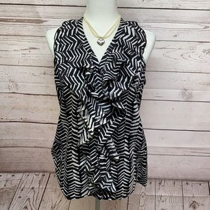 Milano Black & White Blouse